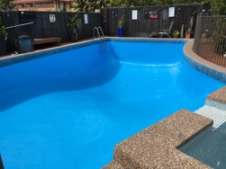 how to paint your pool- the after shot